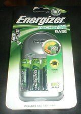 ENERGIZER RECHARGE BASE CHARGER AND 4 AA BATTERIES BRAND NEW SEALED