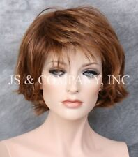 Wonderful EveryDay Short N Sassy wig full bangs  Red Auburn Mix NLLx 33-27