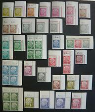 Bund, Heuss I, MiNr. 177-196, postfrisch, MNH, aus Ecke 2, überkomplett, LUXUS!!