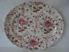 JOHNSON BROS CHINA ROSE CHINTZ PLATTER 13-3/4""