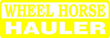 WHEEL HORSE HAULER DIE CUT DECAL - SET OF 2 - YELLOW