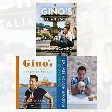 Gino D'Acampo Collection Italian Recipes 3 Books Set Pack A Taste of the Sun NEW