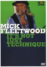 Mick Fleetwood Mac It's Not Just Technique Learn to Play Rock Drums Music DVD