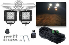 Hella Optilux 4 LED Driving Lamp Kit - Flood Beam