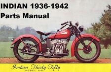 INDIAN 1936-1942 MOTORCYCLE PARTS MANUAL Set 180pgs for 1937 1938 1939 1940 1941