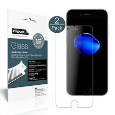2x dipos Panzerglasfolie matt Apple iPhone 7 Plus Schutzfolie Kunststoffglas 9H