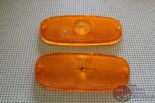58 59 Chevy Truck Park Light Lamp Lenses Amber Pair New FREE SHIPPING