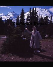 EKTACHROME 35mm Slide Mount Rainier National Park Pretty Woman Snowball 1964!!!