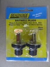 2 Pack of 5/8 Inch Deck, Livewell and Baitwell Drain Plugs for Boats #18951  NEW