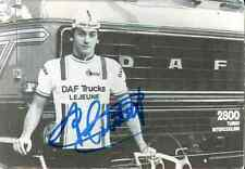GUIDO VAN CALSTER 1979 team DAF Lejeune Trucks Signed Autographe cycling Signé