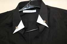 #50 gIVENCHY Black Star Long Sleeve Shirt Size S