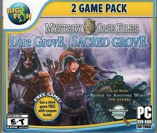 MCF DIRE GROVE SACRED GROVE + BRIDGE TO ANOTHER WORLD Hidden Object PC Game NEW