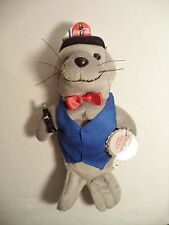 Plush Coca Cola Seal Delivery Outfit Coke Bean Bag Style 170 1998 North Pole
