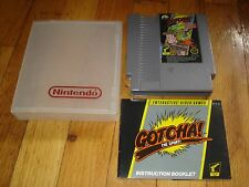 GOTCHA! THE SPORT! W/ INSTRUCTION BOOKLET & HARDCOVER- ORIGINAL NES - 1985