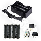 4X 6000mAh 18650 3.7V li-ion Rechargeable Battery For Flashlight Torch + Charger