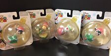 Disney Tsum Tsum with Stackable Holiday Accessory  Set Of 4 Christmas Figure