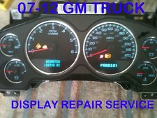 REPAIR SERVICE 2007-10 GM GMC Sierra Yukon Denali Gauge Cluster Digital Display