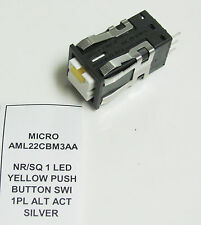 Honeywell Microswitch AML22CBM3AA 24V 1 Pole Momentary Pushbutton Switch Yel LED