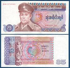 BIRMA / BURMA ( MYANMAR ) 35 Kyats (1986)  UNC  P.63