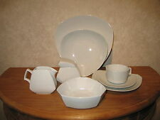 ROSENTHAL *NEW* FLASH WEISS Set 7 pièces (assiettes,...) (plates...white blanc)