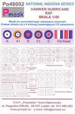 Model Maker 1/48 HAWKER HURRICANE INSIGNIA Roundels Fin Flashes Paint Masks