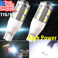 2X Super White T15/T10 Projector Lens Back up Reverse Light LED bulb 921 912 906