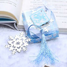 Snowflake Bookmark Metal Silver Page Book Marker Mark Read Frozen Christmas Gift