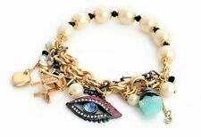 B387 Betsey Johnson Bohemia Rhinestone Eye Eyes Chair Tea Party Bracelet US