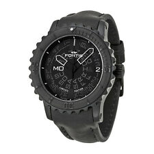 Fortis Big Chronograph Automatic Black Dial Black Leather Mens Watch 6751881L01