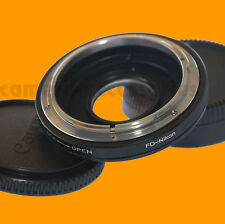 Canon Fd Lente A Nikon BODY MOUNT ADAPTER INFINITY FOCUS CON correctional GLASS