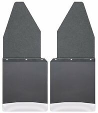 "Husky Liners 17104 Kick Back Mud Flaps 12"" Wide Black Top and Stainless Weight"