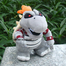 Super Mario Bros Dry Bowser Koopa Troopa Plush Toy Stuffed Animal Soft Doll 9""
