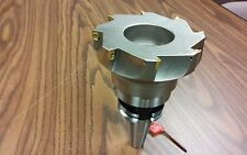 "5"" 90 degree indexable face shell mill,face milling cutter APKT w. CAT40 arbor"