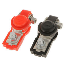 Red Black Set Adjustable Car Battery Terminal Connector Clamp Positive &Negative