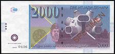 2000 denari 2013 Macedonia / essay uncirculated banknote design 2016