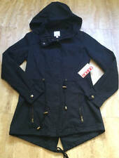 NWT BONGO JUNIORS BLACK HI LO MILITARY ARMY PARKA LIGHTWEIGHT JACKET S SMALL