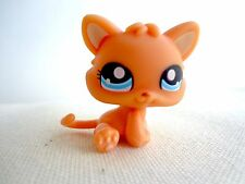 Littlest Pet Shop #1371 Tangerine Orange baby Kitten Cat blue eyes LPS