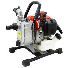 "Portable 33cc Gas Gasoline Water Pump 1"" 2 stroke engine 1850GPH 26.5ft Suction"