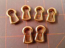 Set of 6 Brass Key Hole Covers New Old Stock Reproduction