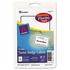 Avery Flexible Name Badge Labels - 5151