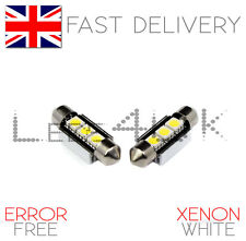 2x número de licencia placa 3 Smd Led Light Bulbs Bmw E46 Coupe & M3 Xenon Blanco C5w
