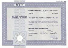 O&K Orenstein & Koppel AG 100DM Berlin 1971