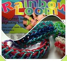 Lot of 3 Amazing Rainbow Loom Colorful Rubber Band Bracelet Kit