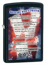 "Zippo ""Military Wife's Prayer"" Black Matt Lighter, 28315, +Wick +Flints"