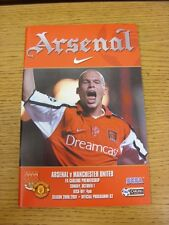01/10/2000 Arsenal v Manchester United  (Excellent Condition)