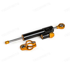 CNC Adjustable Steering Damper Stabilizer For Honda Yamaha Kawasaki Suzuki Black
