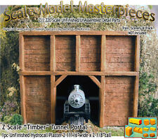 """Z Scale """"Timber"""" Tunnel Portal Scale Model Masterpieces 1;220 *NEW PRODUCT*"""