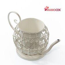 PORTAVASO vaso fioriera TEIERA coprivaso metallo bianco h17 decorazione Shabby