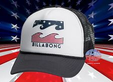 New Billabong Podium Mens USA Stars Stripes Trucker Snapback Cap Hat