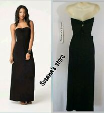 NWT BEBE Strapless Twist Back Dress SIZE S Effortless upscale strapless maxi